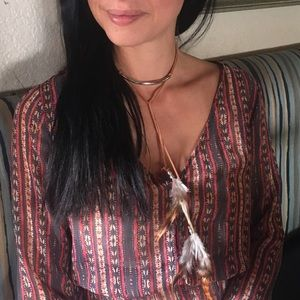 Coachella Bella wrap necklace