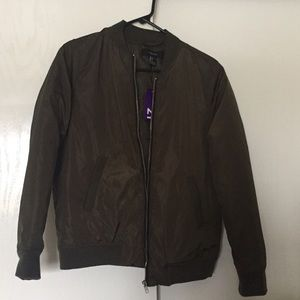 Forever 21 Bomber Jacket NWT army green, size sm