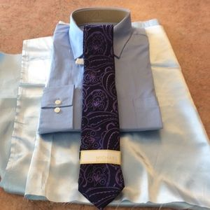 MICHAEL Michael Kors Other - NWT men's mk purple & navy silk paisley tie 👔
