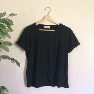 ROMWE Tops - [ romwe ] black t-shirt