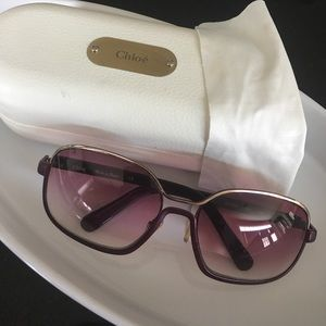 Authentic Chloe sunglasses- Violet