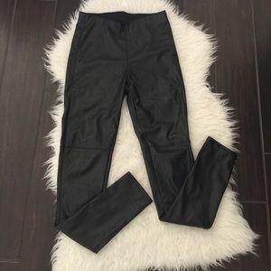 Divided Pants - Faux leather leggings. Faux leather pants