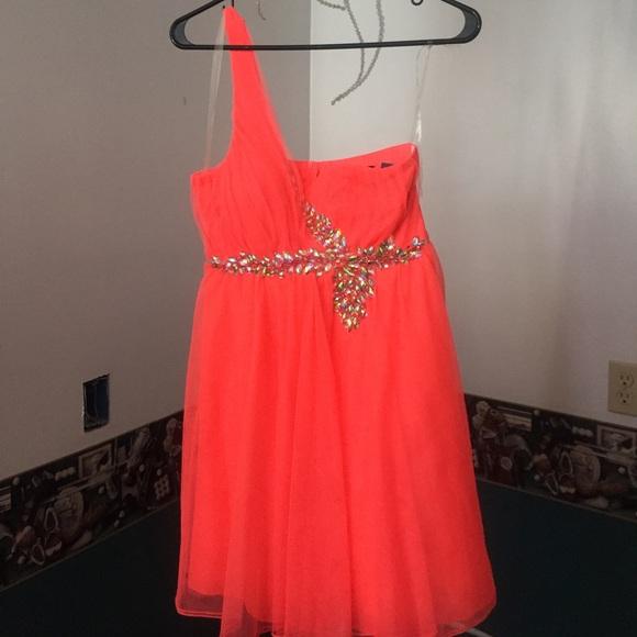 Dresses Neon Orange Prom Dress Poshmark