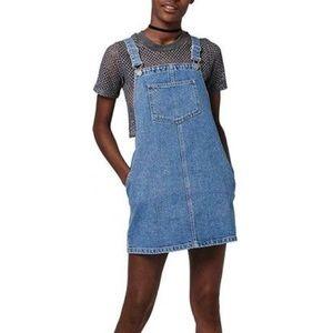 Topshop PETITE Dresses & Skirts - NWOT Topshop Denim Pinafore Dress