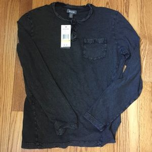Black / charcoal long sleeve men's shirt