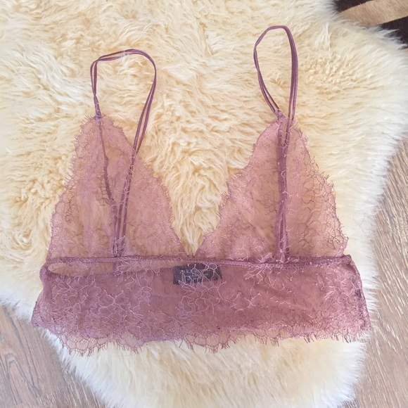 f82531cc77051 NWOT Zara Lace Bralette (Pink Dusty Rose). M 58e532f4981829342b00f1c3