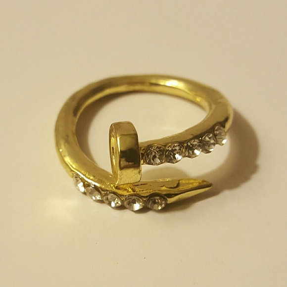 Jewelry - Nail Bit Bling Ring