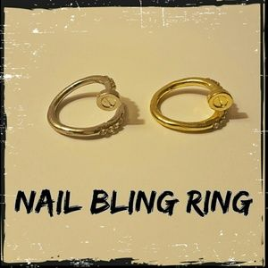 Jewelry - Nail Bit Bling Ring