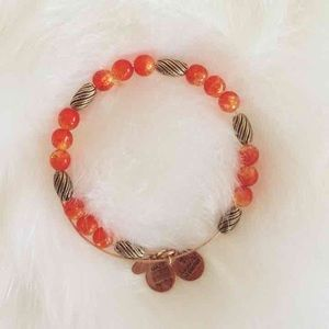 Alex & Ani Jewelry - Alex and Ani Orange and Gold Beaded Bangle