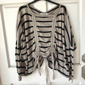 All Saints Tops - All Saints Oversized Striped Top