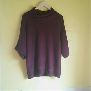 AGB Sweaters - AGB Crossover Cowl Neck Deep Purple Sweater