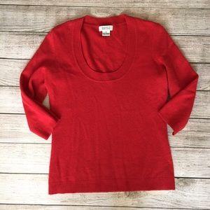 Barneys New York Sweaters - Barneys New York Red Cashmere Sweater