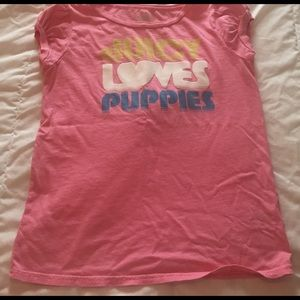 Juicy Couture Tops - pink juicy couture tshirt size L