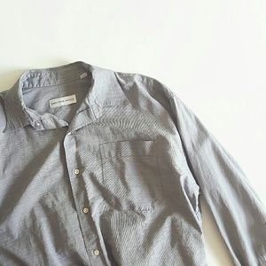 Saks Fifth Avenue Other - Saks Fifth Avenue Grey Gray Long Sleev Button Down