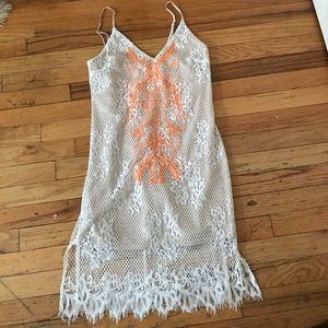 Nordstrom Dresses & Skirts - Nordstrom ASTR white lace neon embroidered dress