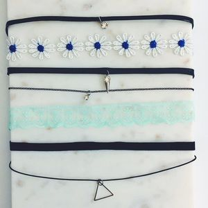 Jewelry - 5 Fesitval Boho Choker Bundle