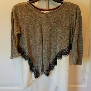Hi-low Lace Shirt