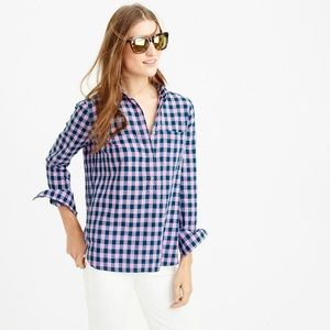 J. Crew Tops - J. Crew Gingham Popover Shirt In Blue and Lilac