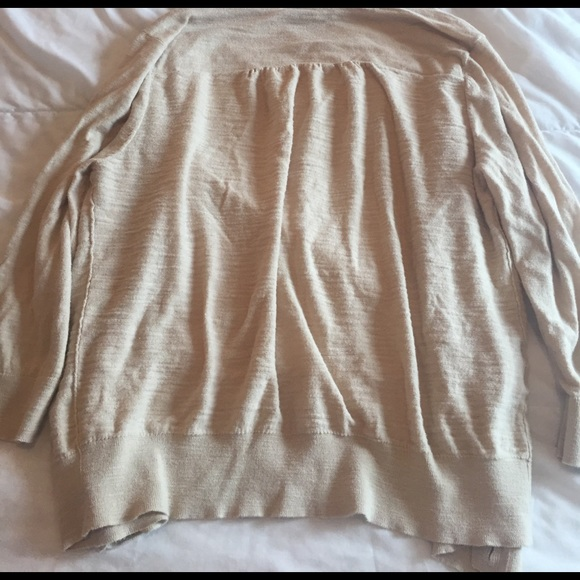 LOFT Sweaters - super cute tan LOFT cardigan size XL