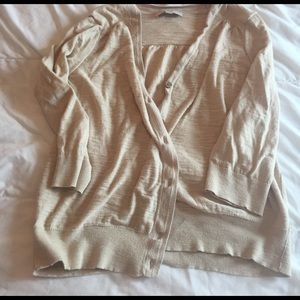 LOFT Sweaters - super cute tan LOFT cardigan size XL
