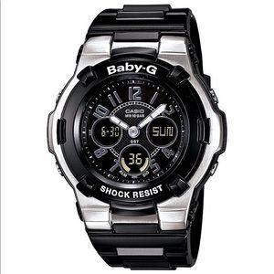 Casio Accessories - Casio Baby G Shock Black/Silver Watch