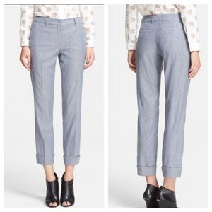 Burberry London Odell Wool Mulberry Silk Trousers