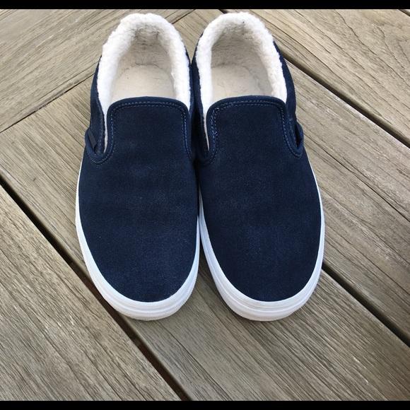 Vans Shoes   Vans Womens Navy Blue Slip