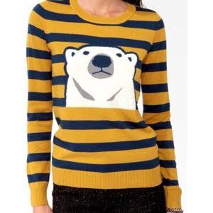 Polar Bear Striped Sweater