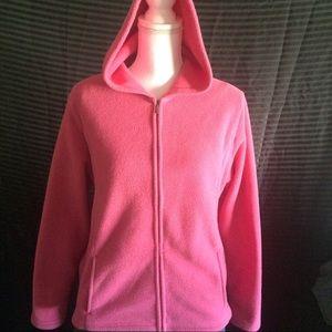 Women's LLBean Rose color  Zip Up Fleece