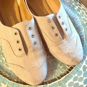 Restricted Shoes - Perfect Heather Gray Casual Flats, EUC!