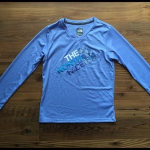 The North Face girls Reaxion Tee in blue S NWT