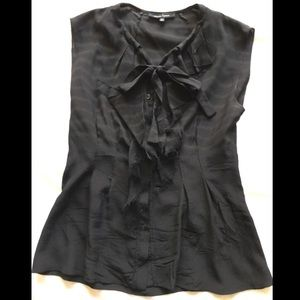 Nanette Lepore Tops - Nanette Lepore 100% silk blouse with tie - size 0