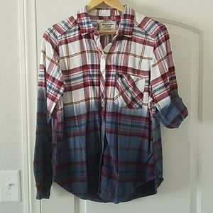 Abercrombie | Ombre Flannel Top