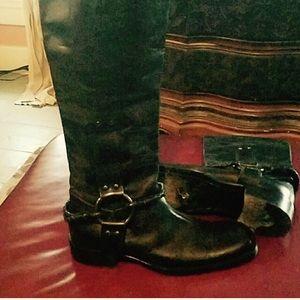 Bottega Veneta Shoes - BOTTEGA VENETA tall square toe harness boot