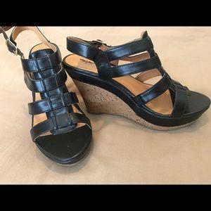 Mossimo Black Shoes - NWOT Mossimo Black cork platform wedges