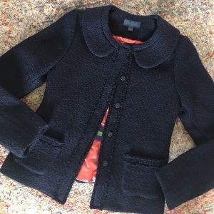 Boden Jackets & Blazers - Boden Navy Boucle Parisienne Jacket