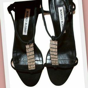 Manolo Blahnik Shoes - Manolo Blahnik rhinestone t-strap sandals