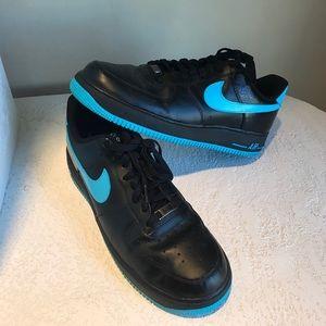 Nike Other - EUC Nike Air Force I Black & Chlorine Blue