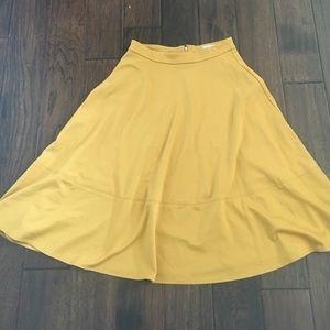 ASOS mustard skirt size 6