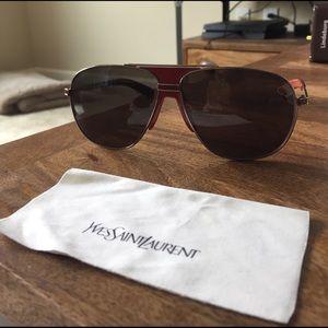 YSL Yves Saint Laurent Aviator Sunglasses