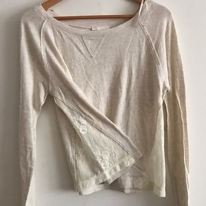 Forever21 lace cutout top. NWOT. Size L