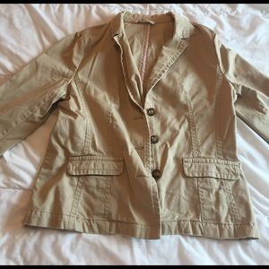 cute old navy khaki blazer jacket size L