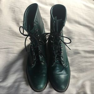 Laredo Shoes - Green High Quality Combat Boots