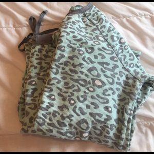 Sonoma Other - super cute mint animal print pajamas size M