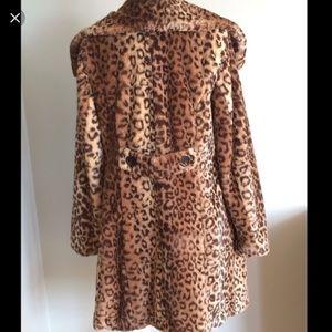 Weatherproof Jackets & Blazers - Leopard coat faux fur