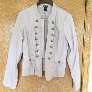 Stoosh Jackets & Blazers - Pale Pink Military Style Jacket