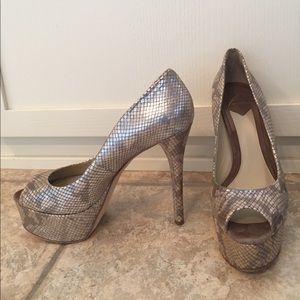 B Brian Atwood Shoes - NIB Brian Atwood peep toe platform snakeskin pumps