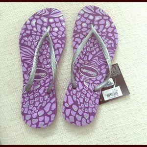 Brand new Havaianas slim flip flops