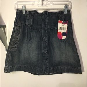 Reef Dresses & Skirts - Reef denim skirt with buttons