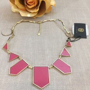 House of Harlow 1960 Jewelry - HOH 1960 Fuschia Station Pyramid Necklace